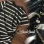 เสื้อผ้าเกาหลี Gold&Black Two tone Bloomy Blouse thumbnail 8