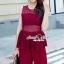 เสื้อผ้าเกาหลีพร้อมส่ง งานสวยหรูลุคสาวไฮคลาส ด้วยจั้มสูทกางเกงมีให้เลือก 3 สี thumbnail 2