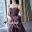 เสื้อผ้าเกาหลีพร้อมส่ง Chic Coral Pink&Black Cami Suite Set thumbnail 14
