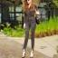 กางเกงยีนส์เอวสูง สีดำฟอกสีสวยมากๆ thumbnail 4
