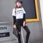 เสื้อผ้าเกาหลีพร้อมส่ง กางเกงยีนส์สกินนี่ขาเดฟ thumbnail 2