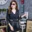 เสื้อผ้าแฟชั่นเกาหลีพร้อมส่ง เสื้อโค้ชแจคเก็ตแขนยาว ดีสวยมาก thumbnail 3