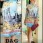 เสื้อผ้าเกาหลี พร้อมส่ง เสื้อเชิ้ตทรงโอเวอร์ไซส D&G เนื้อผ้าซิลเนื้อไหม พิมลายเมืองโบราณช่วงอก thumbnail 4