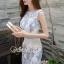 ชุดเดรสเกาหลีพร้อมส่ง Sweet Lace Bule Suquin Dress thumbnail 6