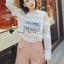 เสื้อผ้าเกาหลีพร้อมส่ง T-Shirt Lace Sweater Circle Pant Set thumbnail 6