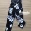 เสื้อผ้าเกาหลีพร้อมส่ง เกาะอกสีดำพอมพ์ลายดอกไม้สีขาว ทรงขาเดฟเข้ารูป thumbnail 11