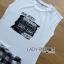 เสื้อผ้าเกาหลี พร้อมส่งเซ็ตเสื้อผ้ายืดสีขาวพิมพ์ลายพร้อมกระโปรงลายสก็อต thumbnail 12