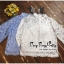 เสื้อผ้าเกาหลีพร้อมส่ง เสื้อลูกไม้คอกลมตั้งสูงสไตล์วินเทจ thumbnail 15