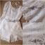 ( พร้อมส่งเสื้อผ้าเกาหลี) เซ็ตเสื้อ-กางเกงขาสั้นผ้าลูกไม้สีขาวฉลุทั้งชุด เก๋ๆด้วยดีเทลเว้าหลัง ผูกโบว์คะ ลุคชิลๆหวานแอบเปรี้ยวเบาๆ **Pattern/Cutting สวยมากคะ เนื้อผ้า Cotton ฟอกเกรดดีคะ ฉลุลายดีเทลสวยค่ะ thumbnail 4
