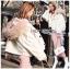 Emma Winter Big Fur-Hood White Denim Jacket thumbnail 6