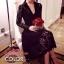 เสื้อผ้าเกาหลี พร้อมส่ง Chanel dress เนื้อผ้าวางชั้นผ้าได้อย่างลงตัว ใช้การตัดเย็บพิเศษอย่างดี thumbnail 2