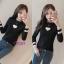 เสื้อผ้แฟชั่นเกาหลีพร้อมส่ง เสื้อไหมพรมคอกลม แขนยาว thumbnail 6