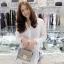 เสื้อผ้าเกาหลีพร้อมส่ง เดรสเชิ้ต คอปกแขนยาวสีขาว thumbnail 4