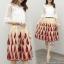 เสื้อผ้าเกาหลีพร้อมส่ง Wite & Red Unity Elegant Lady Beauty Set thumbnail 3