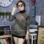 เสื้อผ้าเกาหลีพร้อมส่ง เสื้อผ้าวิ้งแขนยาวคอปีน thumbnail 2
