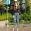 กางเกงยีนส์เอวสูง ขาดถากๆสวยมาก thumbnail 3