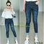 เสื้อผ้าเกาหลีพร้อมส่ง กางเกงยีนส์ ขายาว ทรงเดป ผ้ายืดเยอะ thumbnail 2