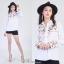 เสื้อผ้าเกาหลีพร้อมส่ง Zara Embroidered long sleeve thumbnail 3