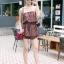 เสื้อผ้าเกาหลีพร้อมส่ง จั๊มสูทเกาะอกขาสั้น เนื้อผ้าพิมพ์ลายสวย thumbnail 8