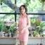 ชุดเดรสเกาหลีพร้อมส่ง เดรสลายไทย เฉียงข้างเดียว thumbnail 5