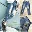 เสื้อผ้าเกาหลีพร้อมส่ง กางเกงยีนส์ ขายาวทรงบอย thumbnail 6