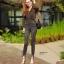 กางเกงยีนส์เอวสูง สีดำฟอกสีสวยมากๆ thumbnail 5