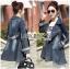 เสื้อผ้าเกาหลีพร้อมส่ง เบลเซอร์ยาวผ้าเดนิมสไตล์สปอร์ตเฟมินีน thumbnail 5