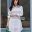 เสื้อผ้าเกาหลีพร้อมส่ง เชิ้ตเดรสผ้าคอตตอนสีขาวตกแต่งเชือกผูกด้านข้าง thumbnail 6