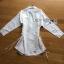 เสื้อผ้าเกาหลีพร้อมส่ง เชิ้ตเดรสผ้าคอตตอนสีขาวตกแต่งเชือกผูกด้านข้าง thumbnail 13