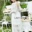 ชุดเดรสเกาหลีพร้อมส่ง เดรสผ้าลูกไม้สีขาวสไตล์เจ้าหญิงสุดหวาน thumbnail 4