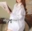 ( พร้อมส่งเสื้อผ้าเกาหลี) เสื้อเชิ้ตแขนสั้นมีดีเทลติดกระดุมด้านหน้า ช่วงอกลูกไม้ ผ้าเนื้อบางซีทรู แอบเซ็กซี่ มิกซ์แอนด์แมตช์กับท่อนล่างได้หลายแบบหลายสี เปลี่ยนลุคได้ตลอดเวลา สไตลคลาสสิกไม่ตกยุคหยิบมาใส่ไดนานไม่มีเบื่อ thumbnail 13