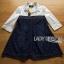 เสื้อผ้าแฟชั่นเกาหลีพร้อมส่ง เชิ้ตเดรสผ้าคอตตอนตัดต่อกระโปรงผ้ายีนส์ thumbnail 8
