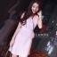 ชุดเดรสเกาหลีพร้อมส่ง Dress ขนนกคอวีแขนกุด thumbnail 1