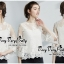 เสื้อผ้าเกาหลีพร้อมส่ง เสื้อลูกไม้ฉลุลายงานสวยสไตล์เกาหลีค่ะ thumbnail 5