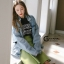 เสื้อผ้าเกาหลีพร้อมส่ง Jacket jean รุ่นขาดศอก ขาดแบบเกร๋ๆ thumbnail 3