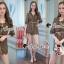 เสื้อผ้าเกาหลีพร้อมส่ง Whiffle Rim Lace Murky Color Playsuit thumbnail 9