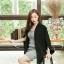 เสื้อผ้าแฟชั่นเกาหลีพร้อมส่ง เสื้อคลุมเบเซอร์สีดำ รุ่นนี้ทรงปล่อยๆ thumbnail 5