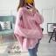 เสื้อผ้าเกาหลีพร้อมส่ง เสื้อไหมพรม แบบคลุม มีกระดุมหน้า thumbnail 16