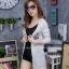 เสื้อผ้าเกาหลีพร้อมส่ง เสื้อคลุมแขนยาวไหมพรมเนื้อบางผ้าลอน thumbnail 3
