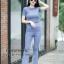 เสื้อผ้าเกาหลีพร้อมส่ง เสื้อยืดคอกลมเเขนสั้น มาคู่กับกางเกงขาม้า thumbnail 3