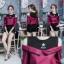 เสื้อผ้าเกาหลีพร้อมส่งเสื้อเชิ้ตแขนยาวต่อผ้ายืดช่วงบน ดีไซน์เปิดไหล่ thumbnail 7