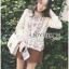 เสื้อผ้าเกาหลีพร้อมส่ง เสื้อผ้าคอตตอนลินินปักลายดอกไม้ thumbnail 7