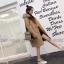 เสื้อผ้าแฟชั่นเกาหลีพร้อมส่ง โอเวอร์โค๊ท ผ้าวูลเนื้อแน่นซับใน thumbnail 4