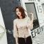 เสื้อผ้าเกาหลีพร้อมส่ง เสื้อไหมพรมแขนยาวดีไซน์แขนให้ดูพองๆน่ารักมากๆ thumbnail 12