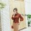 เสื้อผ้าเกาหลีพร้อมส่ง เสื้อไหมพรมแขนยาวดีไซน์แขนให้ดูพองๆน่ารักมากๆ thumbnail 6