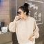 เสื้อผ้าเกาหลีพร้อมส่ง เสื้อไหมพรมฮู้ด thumbnail 4