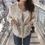 เสื้อผ้าแฟชั่นเกาหลีพร้อมส่ง เสื้อคลุมผ้าทวีต มีมุกติดที่กระเป๋าเสื้อ thumbnail 3