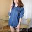 เสื้อผ้าเกาหลีพร้อมส่ง เสื้อเชิ้ตยีนส์งานสีสโนว์สวยชิคใส่ไม่เบื่อ thumbnail 7