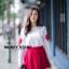 เสื้อผ้าเกาหลีพร้อมส่ง ขาวแดงงานดีก็มาคร้าาาาาา เหมือนเด็กญี่ปุ่นจริงงๆ thumbnail 1