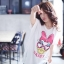 เสื้อผ้าเกาหลี พร้อมส่งเสื้อตัวยาว พิมพ์ลาย Daisy Duck thumbnail 2